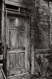 Old Door. Taken at an old abandoned mental hospital Stock Photography