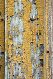 Old door texture. Close view of the texture of and old door, with the paint chipped and peeled Stock Photos