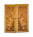 Old the door in Thailand on white isolate background with clippi Royalty Free Stock Image