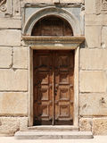 Old door to the church. Athens,Greece royalty free stock photos