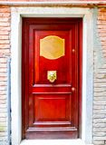 Old door to different concepts: restore, solution ,construction. At Venice, Italy Royalty Free Stock Photography