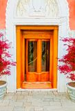 Old door to different concepts: restore, solution ,construction. At Venice, Italy Royalty Free Stock Image