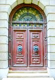 Old door to different concepts: restore, solution ,construction. At Venice, Italy Stock Photos