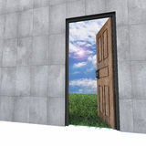Old Door To New World. Royalty Free Stock Photo