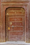 Old door of a traditional Moroccan house Royalty Free Stock Image