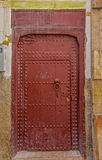 Old door of a traditional Moroccan house Stock Images