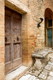 Old door in Tuscany Stock Photography