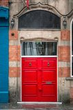 Old door United Kingdom. Wooden door entrance at old house at Liverpool, United Kingdom Royalty Free Stock Images