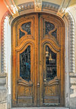 Old door,Valencia,Spain. Wooden door of ancient house Royalty Free Stock Photo