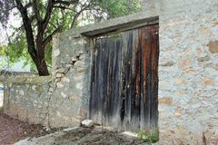 Old Door. Old village door in the middle of nowhere Royalty Free Stock Photography