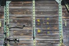 Old door in wagon Stock Photo