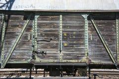 Old door in wagon Stock Image