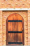 Old door wall. Old door and brick wall Royalty Free Stock Photos