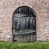 Old door wall Stock Image