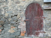 An old door in wall Royalty Free Stock Photography