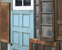 Old door and window Royalty Free Stock Images