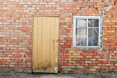 Old door and window of a house Stock Photography