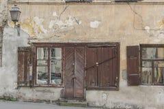 Old door and window Stock Photo