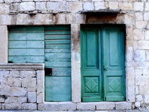 Old door and windows Royalty Free Stock Photo