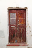 Old door. Old wooden door with cracking and peeling Stock Photo