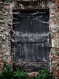 Old door & x28;frightening background& x29; Stock Image