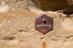 Old Doorbell on Wall - Tuscany Italy Royalty Free Stock Images
