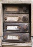 Old doorbells Stock Photos