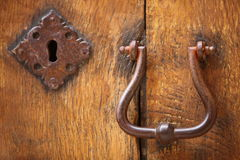 Old doorhandle and lock Stock Photography
