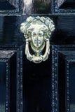 Old doorknocker at a door in London, UK Stock Images