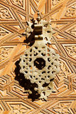 Old doorknocker from Morocco Stock Photo