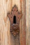 Old doorlock detail Stock Photo
