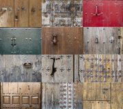 Old doors. Collection of some old wooden doors stock photos