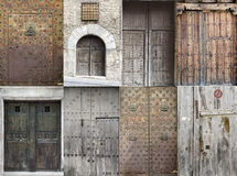 Old doors. Collection of some old wooden doors royalty free stock photo