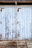 Old doors with cracked paint Royalty Free Stock Photo