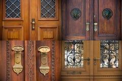 Old doors, handles, lattices and windows Stock Photo