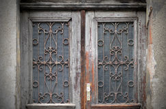 Old doors, handles, locks, lattices and windows Royalty Free Stock Images