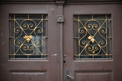 Old doors, handles, locks, lattices and windows royalty free stock photo