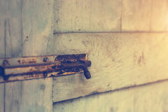 Old doors, handles, locks, lattices and windows.  stock image