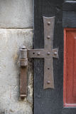 Old doors, handles, locks, lattices and windows Royalty Free Stock Image