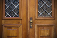 Old doors, handles, locks, lattices and windows Stock Image