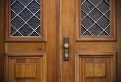 Old doors, handles, locks, lattices and windows Stock Image
