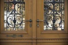 Old doors, handles, locks, lattices and windows Royalty Free Stock Photos