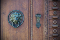 Old doors, handles, locks, lattices and windows Royalty Free Stock Photography