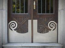 Old doors, handles, locks, lattices and windows. Stock Photo