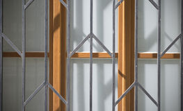 Old doors and handles and locks and lattices and windows. Stock Photos