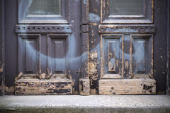 Old doors and handles and locks and lattices and windows. Royalty Free Stock Images