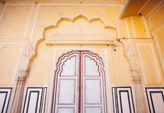 Old Doors of the Hawa Mahal. Hawa Mahal, the Palace of Winds in Royalty Free Stock Images