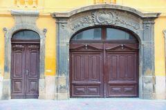 Old doors in Hungary Stock Image