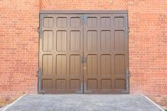 Old doors of iron Stock Photo