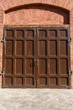 Old doors of iron Stock Images